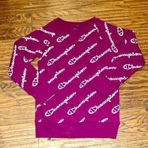 Champion Logo Girls Sweatshirt